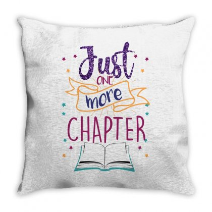 Just One More Chapter Throw Pillow Designed By Seda