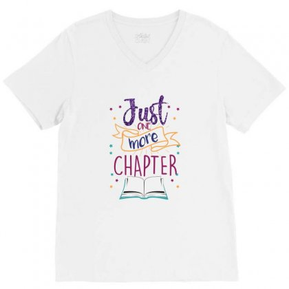 Just One More Chapter V-neck Tee Designed By Seda