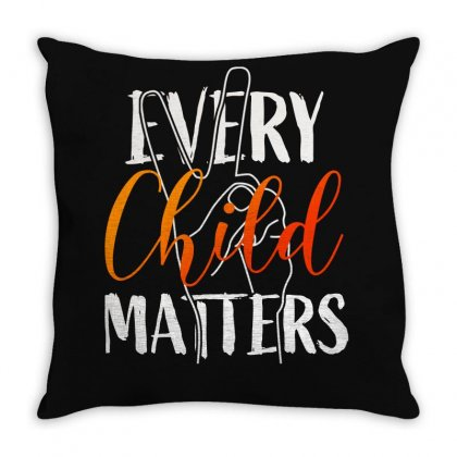 Every Child Matters For Dark Throw Pillow Designed By Seda