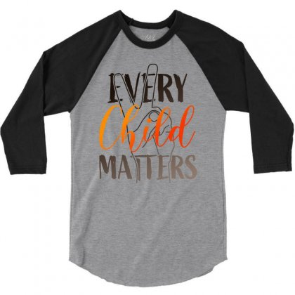 Every Child Matters For Light 3/4 Sleeve Shirt Designed By Seda