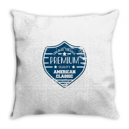 Vintage Stamp Throw Pillow Designed By Disgus_thing
