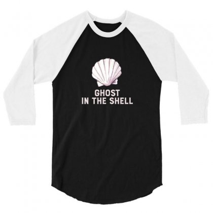 Ghost In The Shell For Dark 3/4 Sleeve Shirt Designed By Hasret
