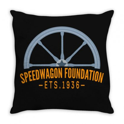 Speed Wagon Foundation Throw Pillow Designed By Gurkan