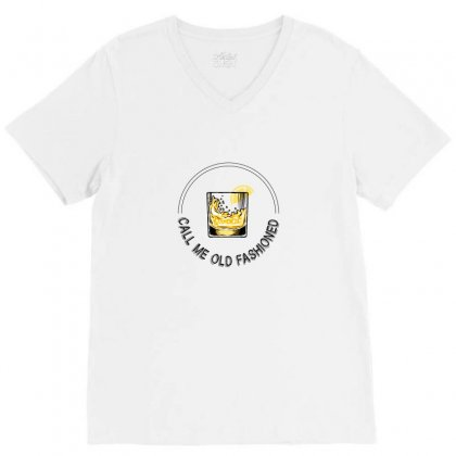 Call Me Old Fashioned For Light V-neck Tee Designed By Hasret