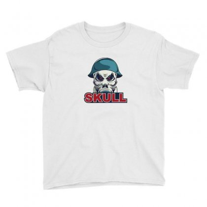 Military Skull Youth Tee Designed By Disgus_thing