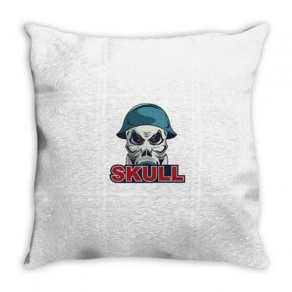 Military Skull Throw Pillow Designed By Disgus_thing
