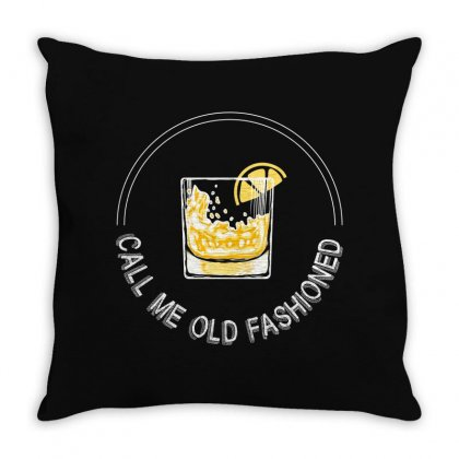 Call Me Old Fashioned For Dark Throw Pillow Designed By Hasret