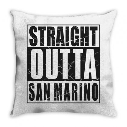 Straight Outta San Marino For Light Throw Pillow Designed By Gurkan