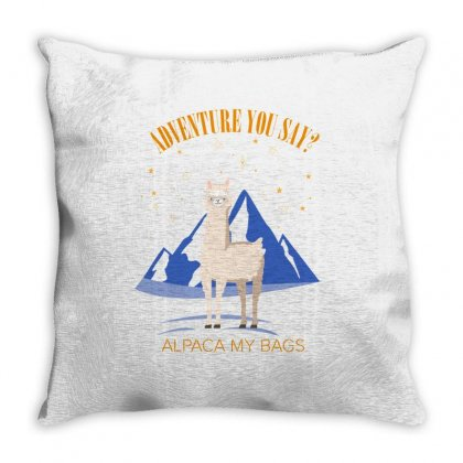 Adventure You Say Alpaca My Bags For Light Throw Pillow Designed By Hasret
