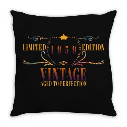 Vintage Throw Pillow Designed By Gurkan