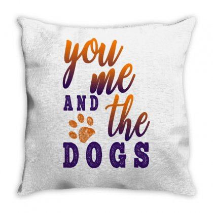 You Me And The Dogs Throw Pillow Designed By Gurkan