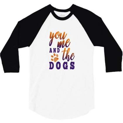 You Me And The Dogs 3/4 Sleeve Shirt Designed By Gurkan