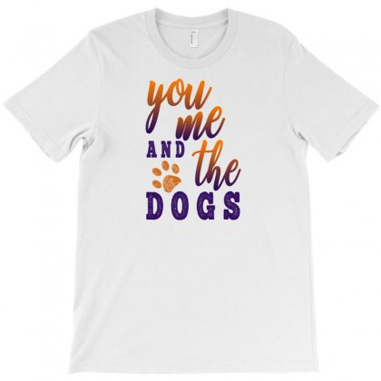 You Me And The Dogs T-shirt Designed By Gurkan