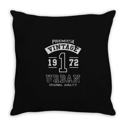 Vintage 1972 Throw Pillow Designed By Disgus_thing