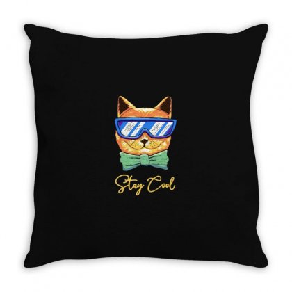 Stay Cool Throw Pillow Designed By Disgus_thing