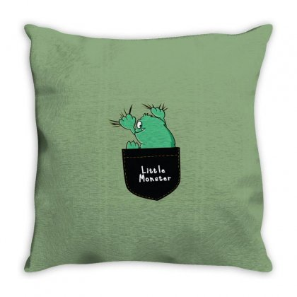 Little Monster Throw Pillow Designed By Disgus_thing