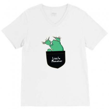 Little Monster V-neck Tee Designed By Disgus_thing