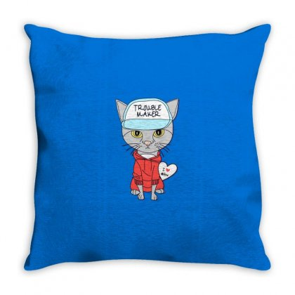 I Love Cat Throw Pillow Designed By Disgus_thing