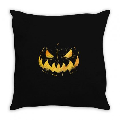 Pumpking Face Throw Pillow Designed By Disgus_thing
