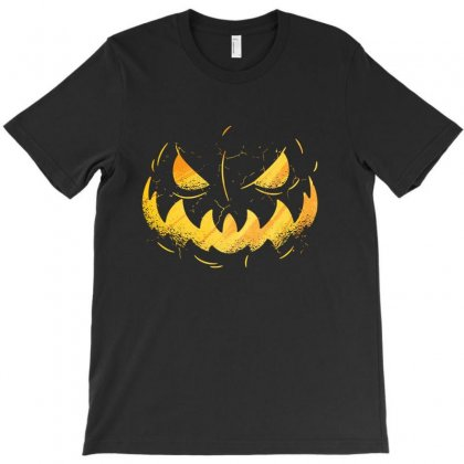 Pumpking Face T-shirt Designed By Disgus_thing