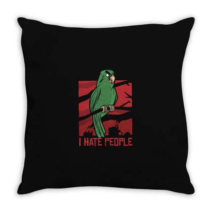 Carrot I Hate People Throw Pillow Designed By Disgus_thing