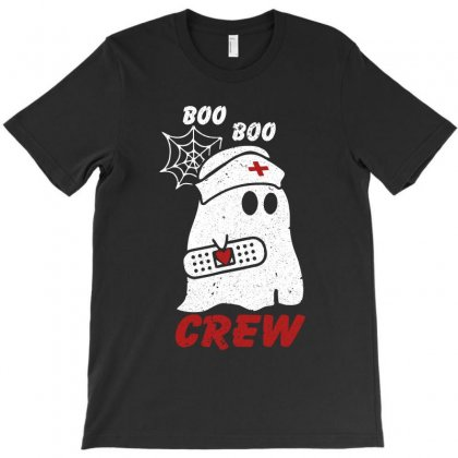 Boo Boo Crew Halloween Ghost Nurse T-shirt Designed By Omer Acar