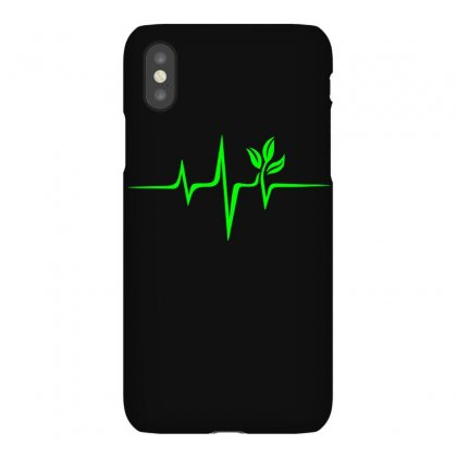 Heartbeat, Pulse Green, Vegan, Frequency, Wave, Earth, Planet Iphonex Case Designed By Omer Acar