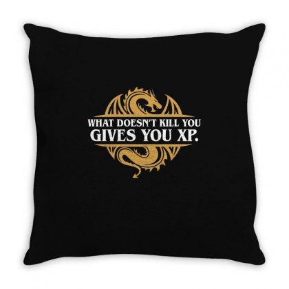 What Doesn't Kill You Gives You Xp Rpg Gamers Throw Pillow Designed By Omer Acar
