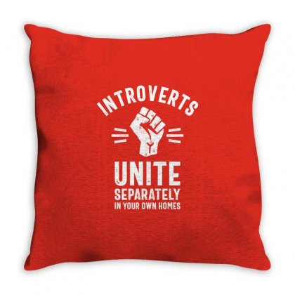 Thread Science Introverts Unite Sarcastic Nerd Loner Funny Humor Throw Pillow Designed By Cidolopez
