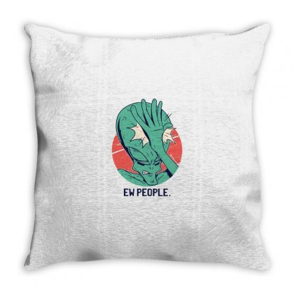 Alien Ew People Throw Pillow Designed By Disgus_thing