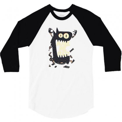 Make Me Crazy 3/4 Sleeve Shirt Designed By Disgus_thing
