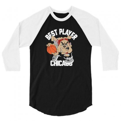 Dog Chicago 3/4 Sleeve Shirt Designed By Disgus_thing