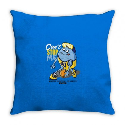 Monster Basketball University Throw Pillow Designed By Disgus_thing