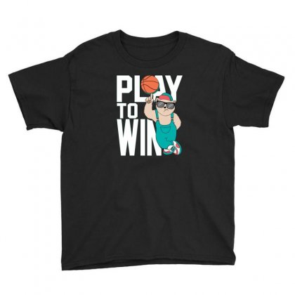 Basketball Play To Win Youth Tee Designed By Disgus_thing