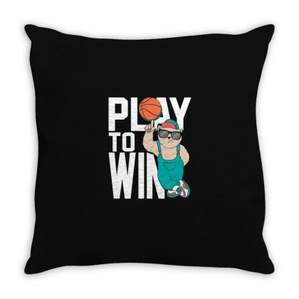 Basketball Play To Win Throw Pillow Designed By Disgus_thing