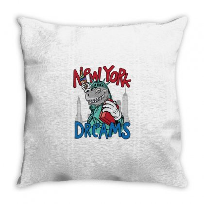 Newyork T Rex Dream Throw Pillow Designed By Disgus_thing