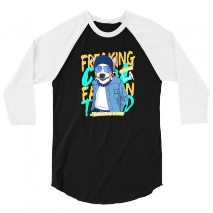 Freaking Cool 3/4 Sleeve Shirt Designed By Disgus_thing