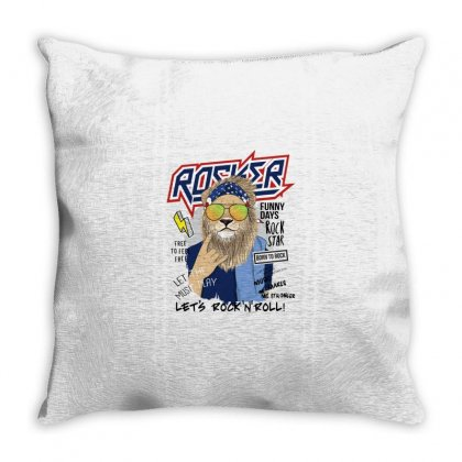 Lion Rockstar Throw Pillow Designed By Disgus_thing