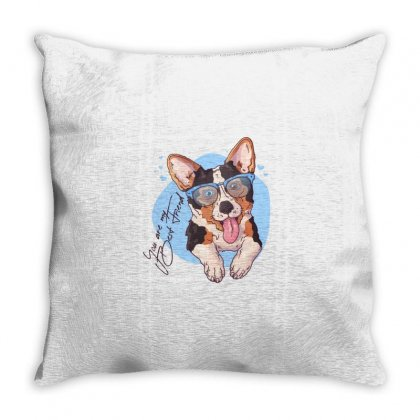 Dog Best Friend Throw Pillow Designed By Disgus_thing