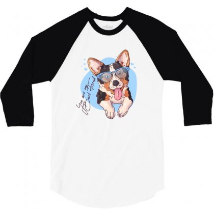 Dog Best Friend 3/4 Sleeve Shirt Designed By Disgus_thing