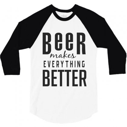 Beer 3/4 Sleeve Shirt Designed By Chris Ceconello