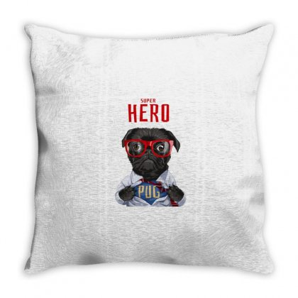 Dog Super Hero Throw Pillow Designed By Disgus_thing
