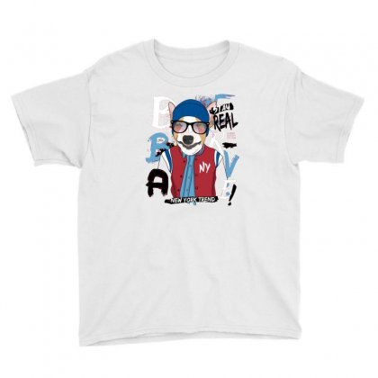 Dog Newyork Trend Youth Tee Designed By Disgus_thing