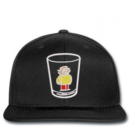A Man In Glass Snapback Designed By Madhatter