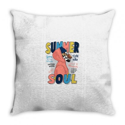 Summer Soul Throw Pillow Designed By Disgus_thing