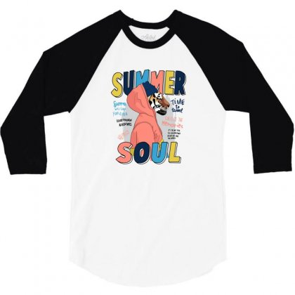 Summer Soul 3/4 Sleeve Shirt Designed By Disgus_thing