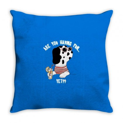 Dog Fun Throw Pillow Designed By Disgus_thing