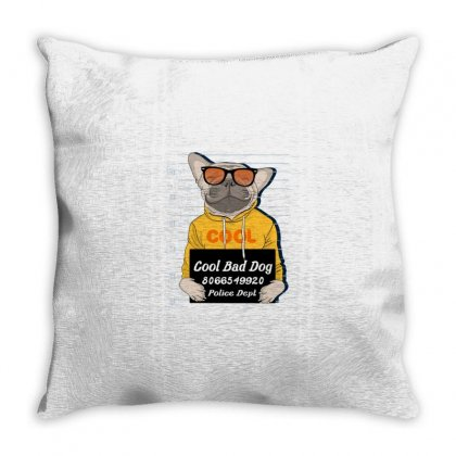 Cool. Bad Dog Throw Pillow Designed By Disgus_thing