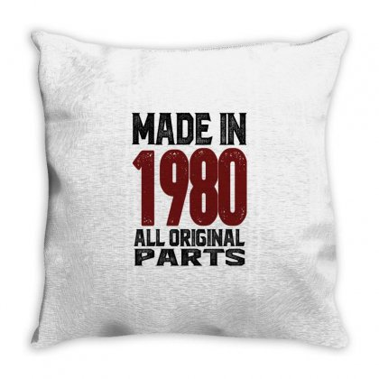 Made In 1980 Throw Pillow Designed By Chris Ceconello
