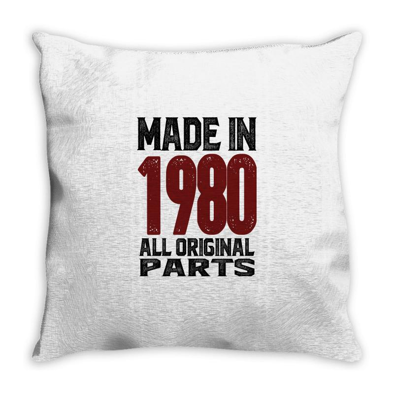 Made In 1980 Throw Pillow | Artistshot